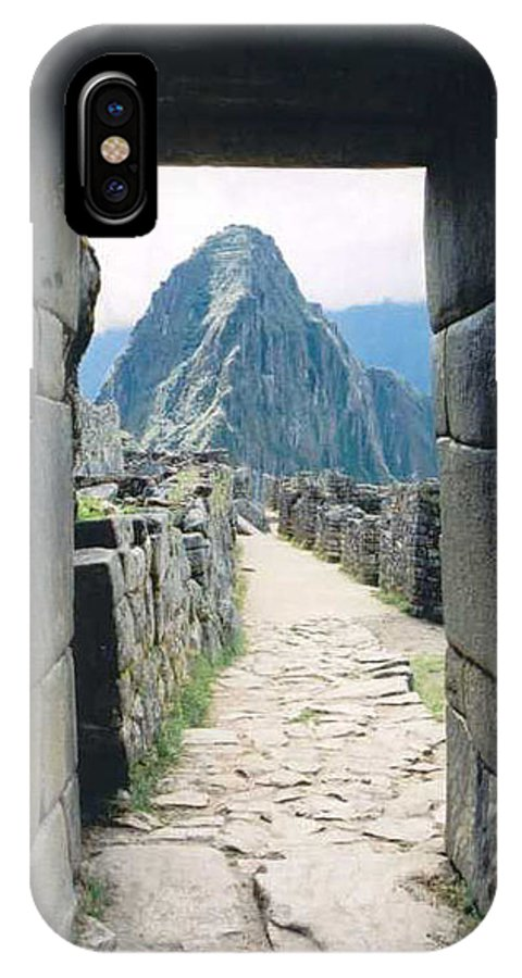 Peru IPhone X Case featuring the photograph Winay Picchu by Kathy Schumann