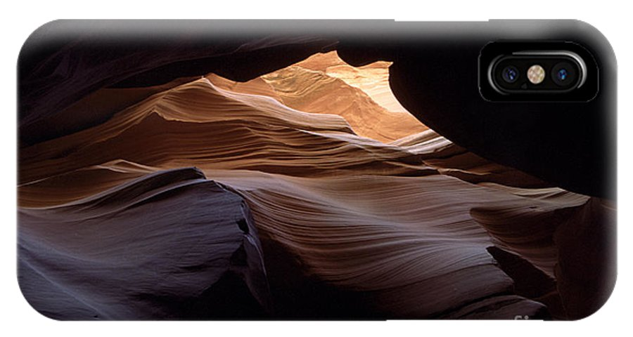 Antelope Canyon IPhone X Case featuring the photograph Wind And Water by Kathy McClure