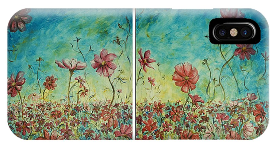 Flowers IPhone Case featuring the painting Wind Dancers by Nik Helbig