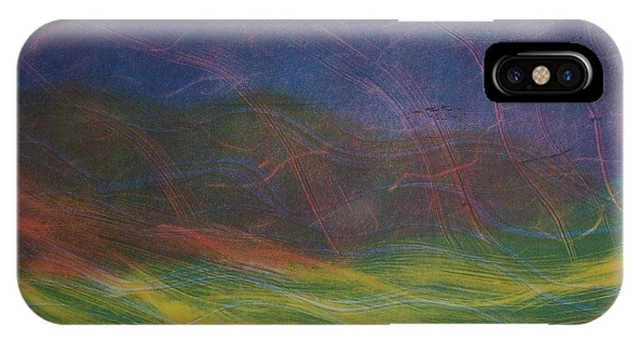 Landscape IPhone Case featuring the painting Wind by Emily Young