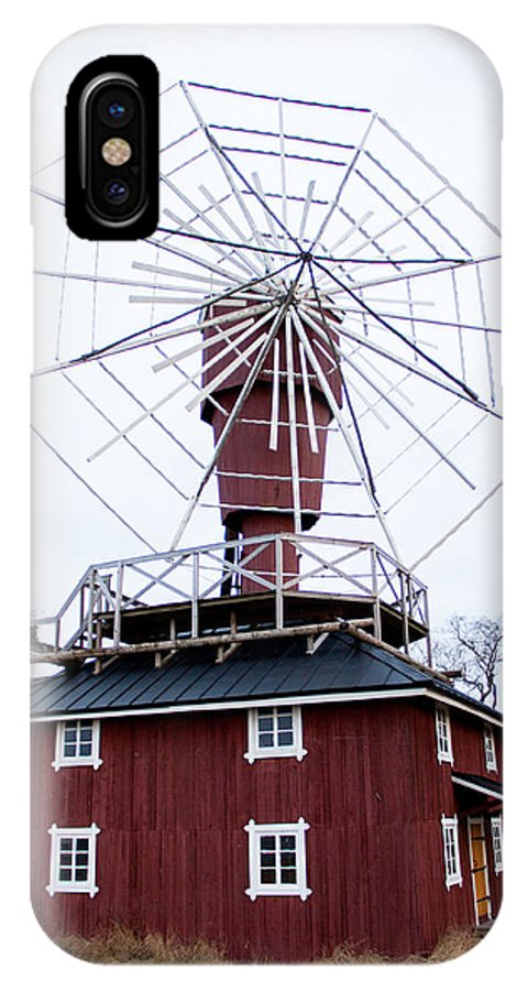 IPhone X / XS Case featuring the photograph Wind Mill by Kirsi Orava