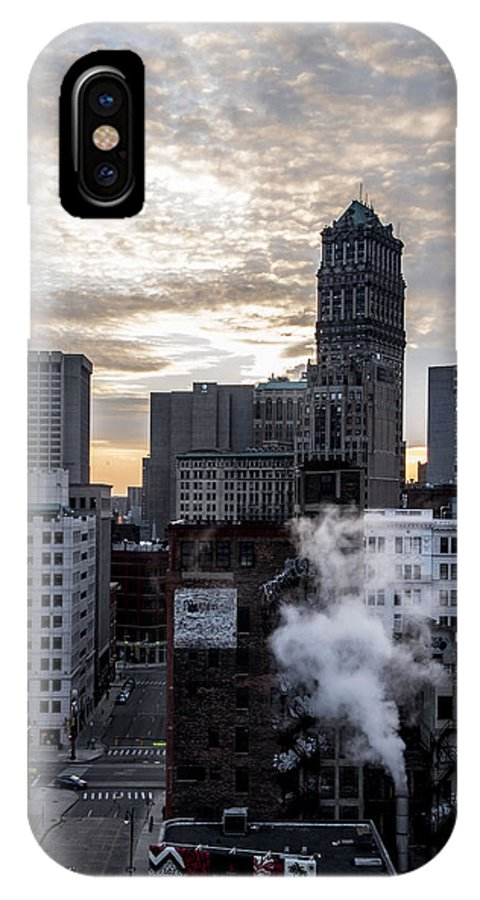 Downtown IPhone X Case featuring the photograph Winding Down by Amber Yaksich