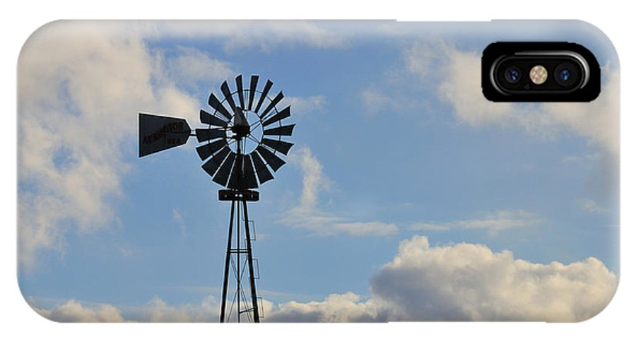 Windmill IPhone X Case featuring the photograph Windmill And Sky by David Arment