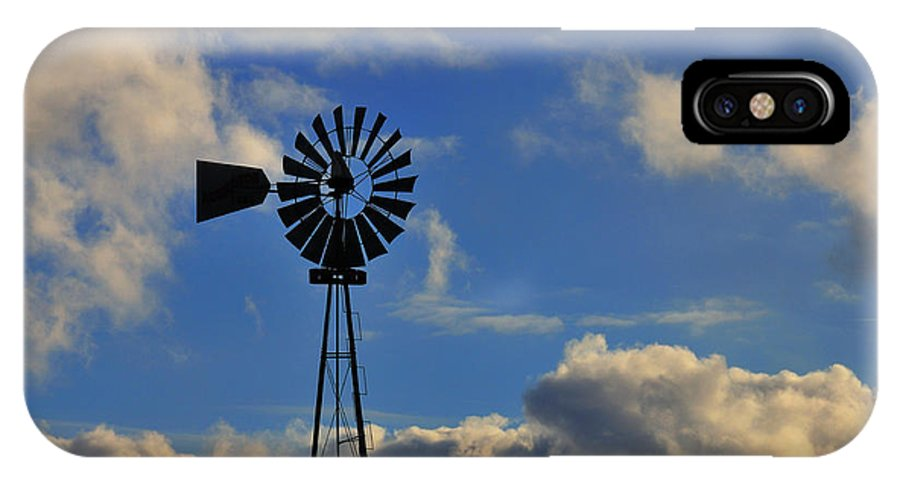 Windmill IPhone X Case featuring the photograph Windmill by David Arment