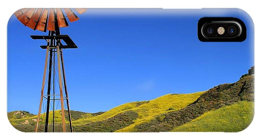 Alternative IPhone X Case featuring the photograph Windmill by Henrik Lehnerer