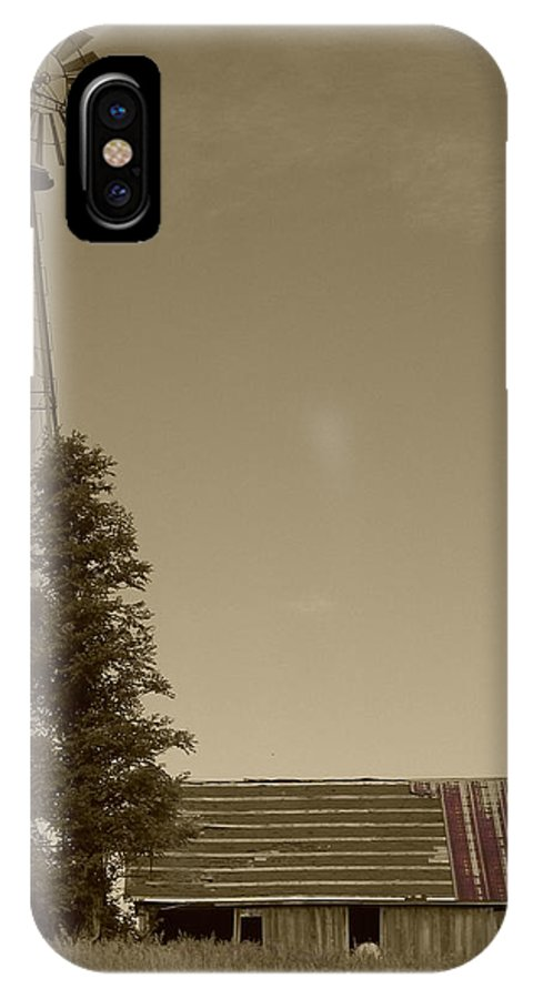 Landscape IPhone X Case featuring the photograph Windmill II by Dylan Punke