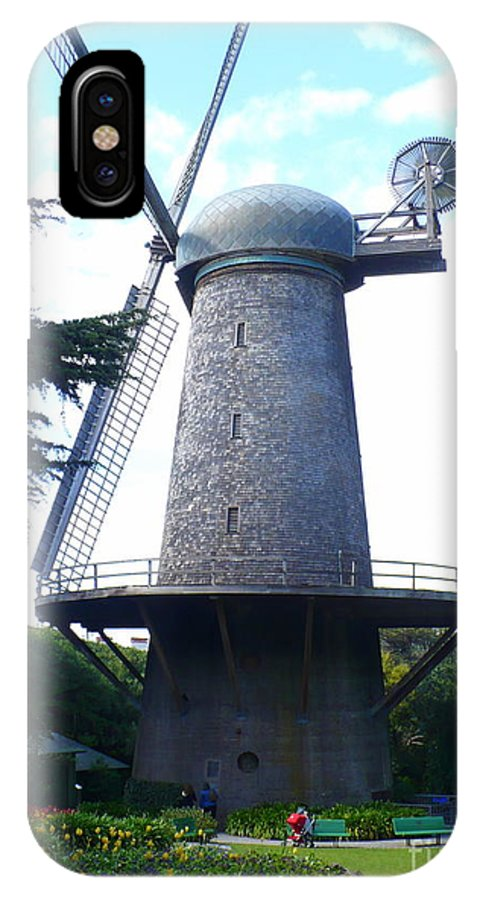 Windmill IPhone X Case featuring the photograph Windmill In Golden Gate Park by Carol Groenen