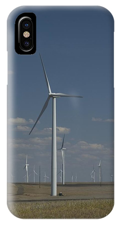 Oregon IPhone X Case featuring the photograph Windmill by Sara Stevenson