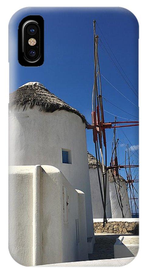 Travel IPhone X Case featuring the photograph Windmills by Lauren Tischendorf