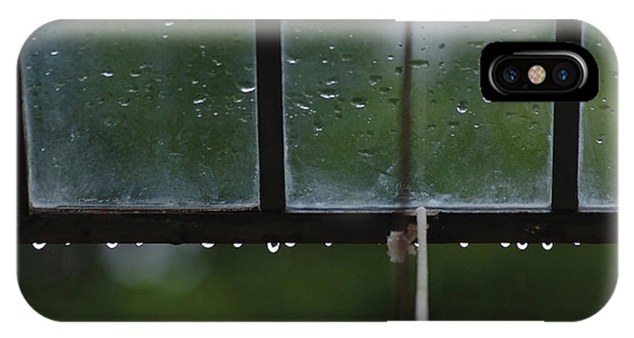 Window IPhone Case featuring the photograph Window And Raindrops-2 by Steve Somerville