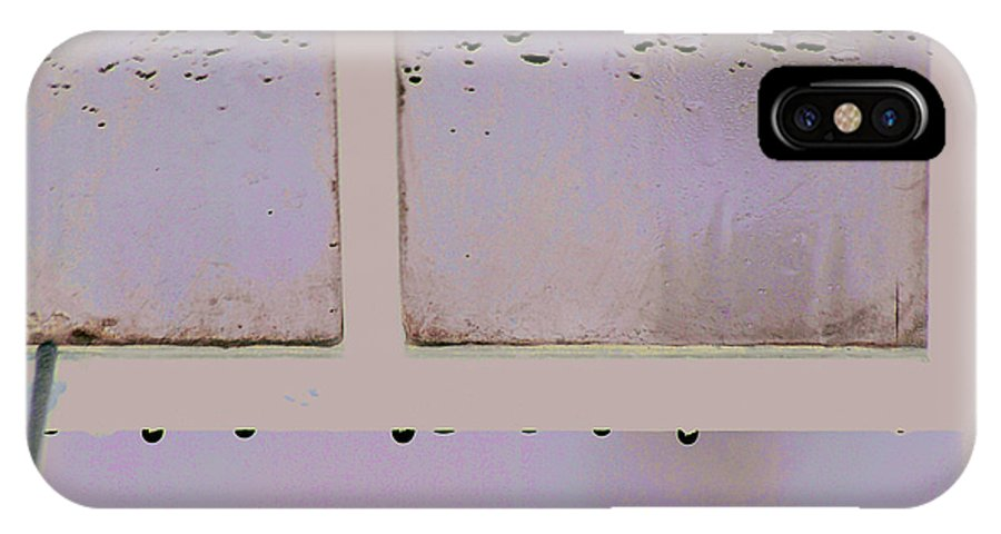 Window IPhone Case featuring the photograph Window And Raindrops by Steve Somerville