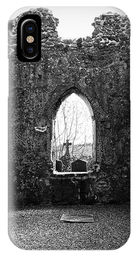 Ireland IPhone X Case featuring the photograph Window at Fuerty Church Roscommon Ireland by Teresa Mucha