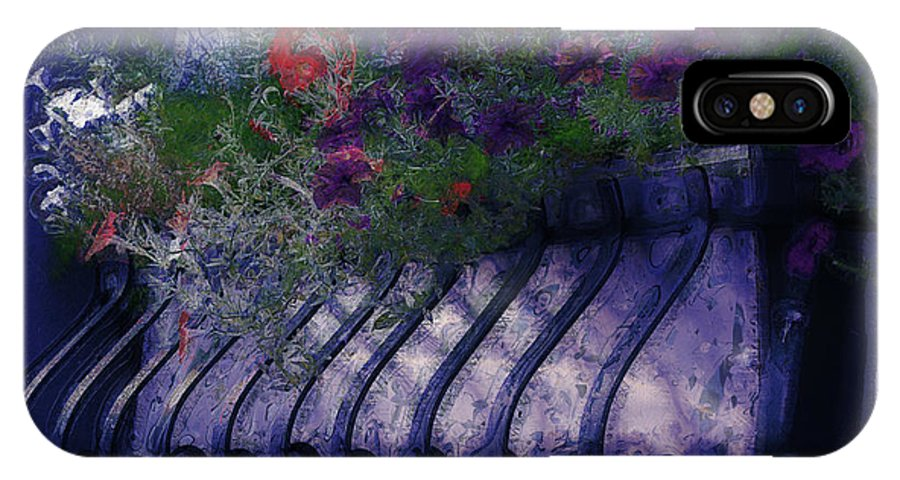 Flowers IPhone X Case featuring the photograph Window Flowerbox by Donna Bentley