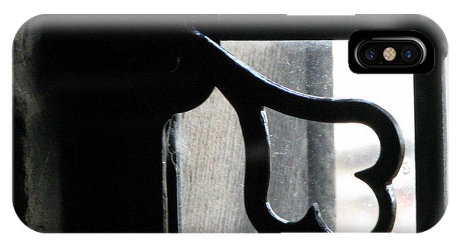 Edinburgh IPhone X Case featuring the photograph Window latch by Amanda Barcon