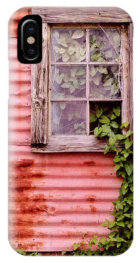 Window IPhone X Case featuring the photograph Window Of Ivy by Andrew Giovinazzo