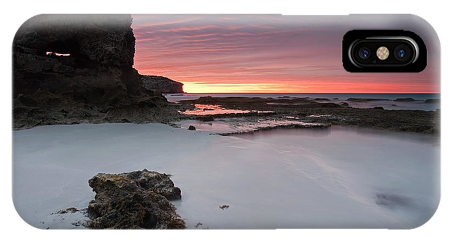 Sunrise IPhone X Case featuring the photograph Window On Dawn by Mike Dawson