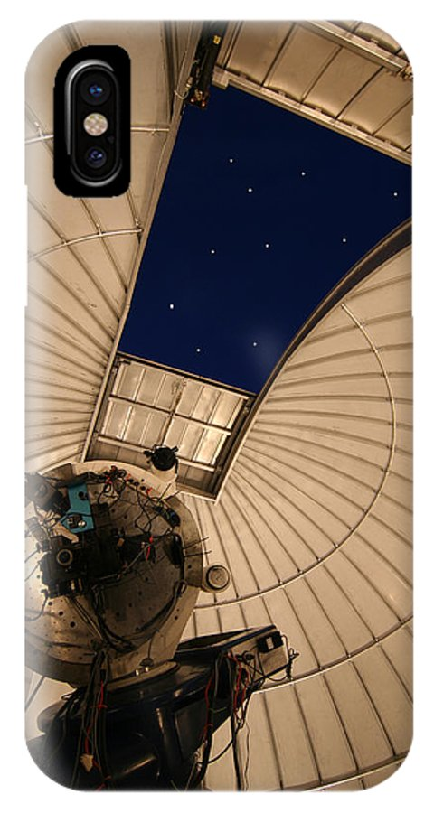 Telescope IPhone X Case featuring the photograph Window On The Stars by Carl Purcell