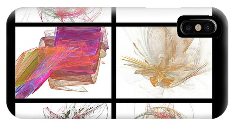 Abstract IPhone X Case featuring the digital art Window One by Betsy Knapp