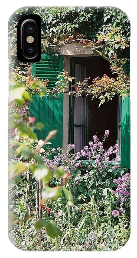 Charming IPhone X Case featuring the photograph Window to Monet by Nadine Rippelmeyer