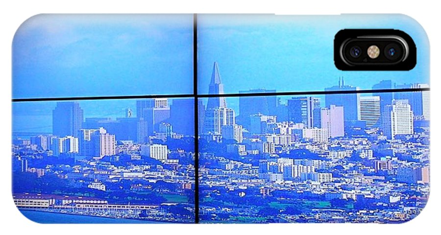 san Francisco IPhone X Case featuring the photograph Window View Of San Francisco by Gary Roy
