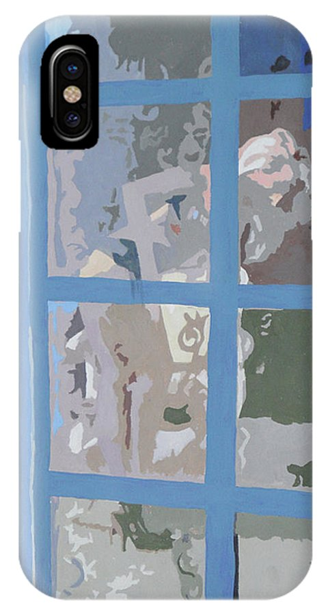 Female Figure IPhone X Case featuring the painting Windows Are For Looking Out 2 by Robert P Hedden
