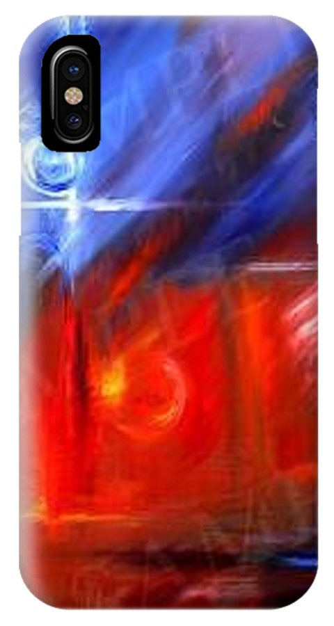 Abstracts IPhone X Case featuring the painting Windows by James Christopher Hill