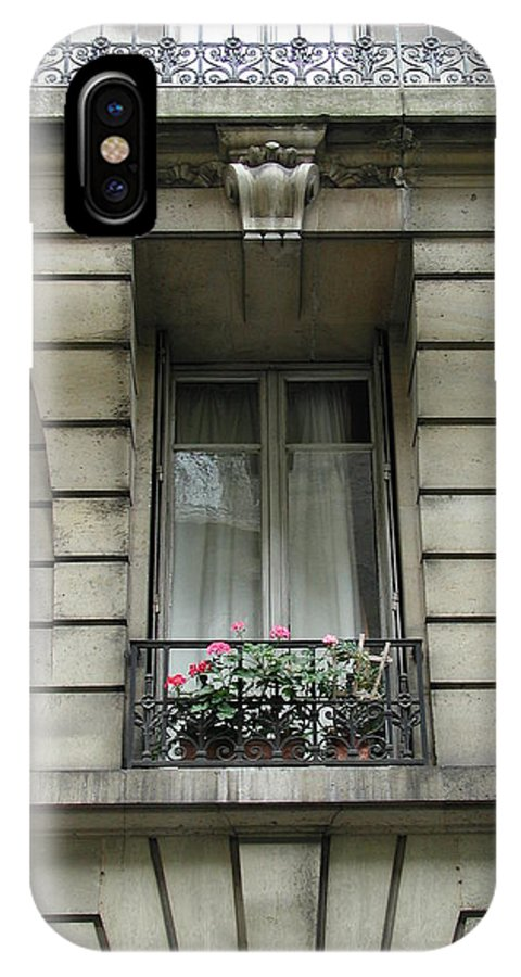 Window IPhone X Case featuring the photograph Windows Of Paris by Nancy Taylor