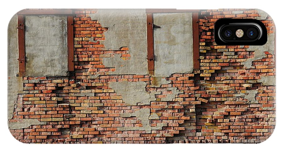 Bricked In IPhone X Case featuring the photograph Windows That Do Not See by David Arment