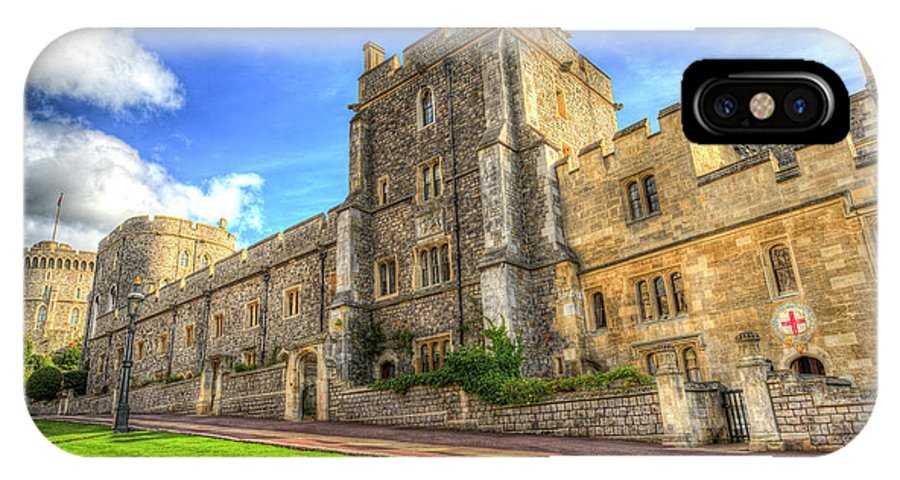 Windsor Castle IPhone X Case featuring the photograph Windsor Castle Architecture by David Pyatt