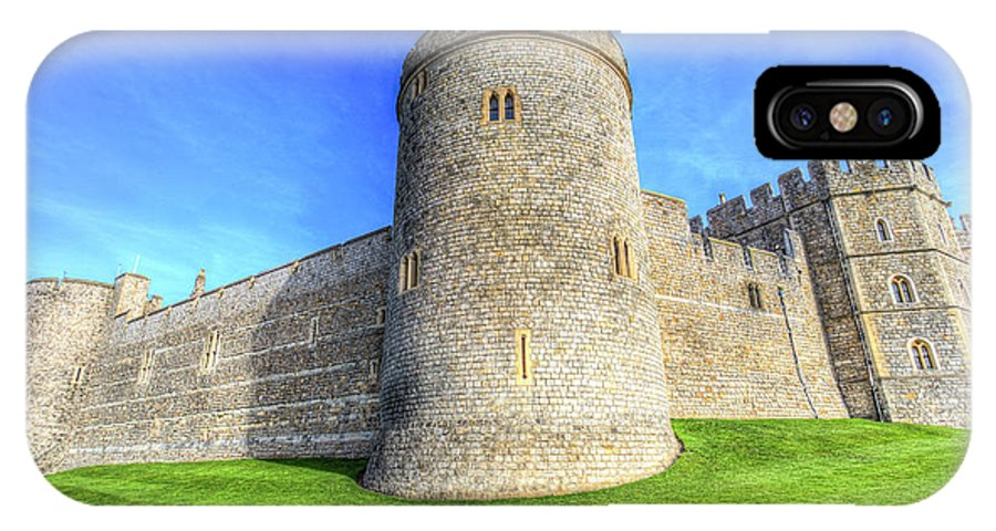 Windsor Castle IPhone X Case featuring the photograph Windsor Castle Battlements by David Pyatt