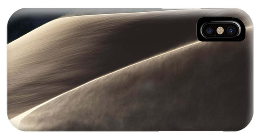 Southwest IPhone X Case featuring the photograph Windswept Dunes by Sandra Bronstein