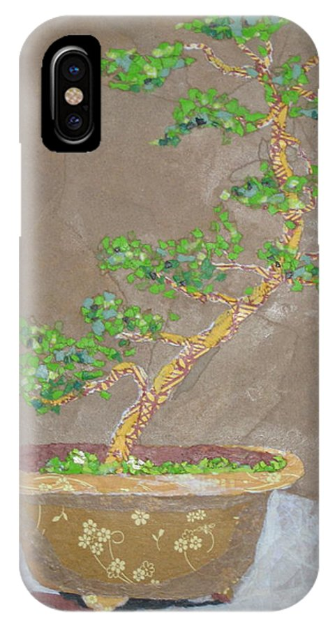 Banzai Tree IPhone X Case featuring the painting Windswept Juniper by Leah Tomaino