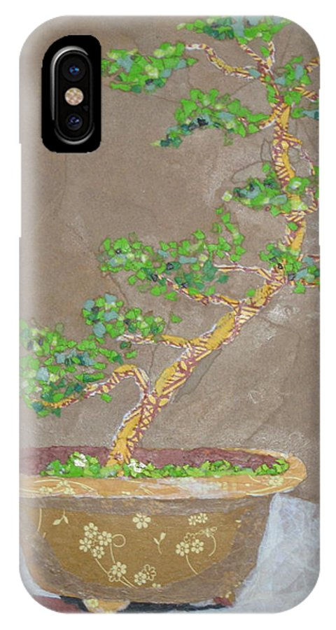 Banzai Tree IPhone X / XS Case featuring the painting Windswept Juniper by Leah Tomaino
