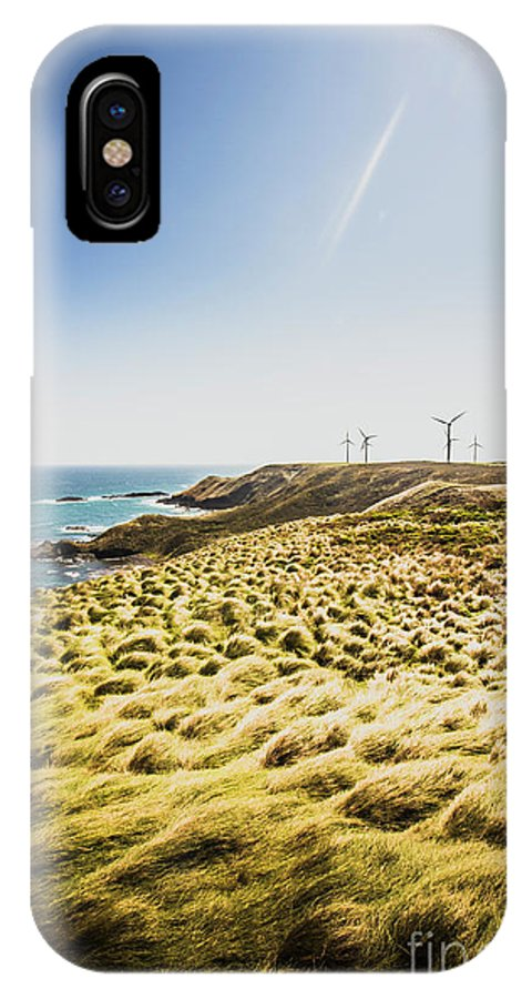 Ocean IPhone X Case featuring the photograph Windy Meadows by Jorgo Photography - Wall Art Gallery