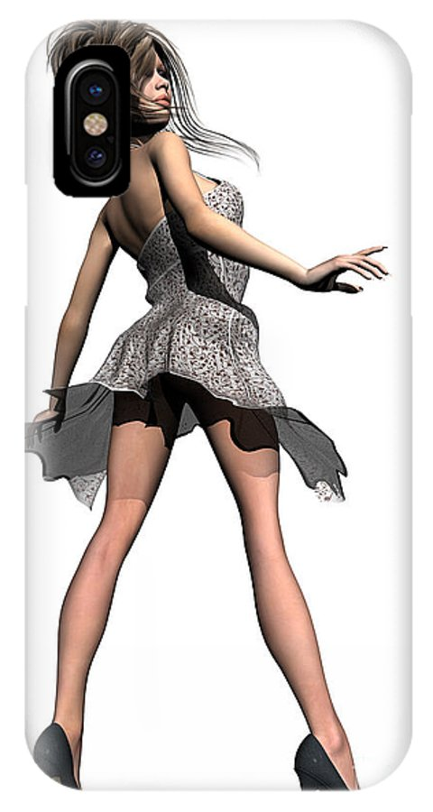 Windy IPhone X Case featuring the digital art Windy by Sandra Bauser Digital Art