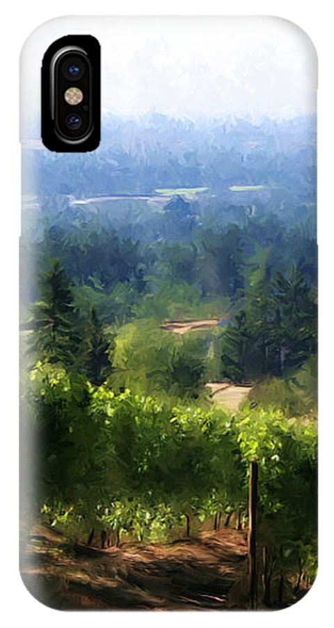 Wine IPhone X Case featuring the photograph Wine Country by Sherrie Triest