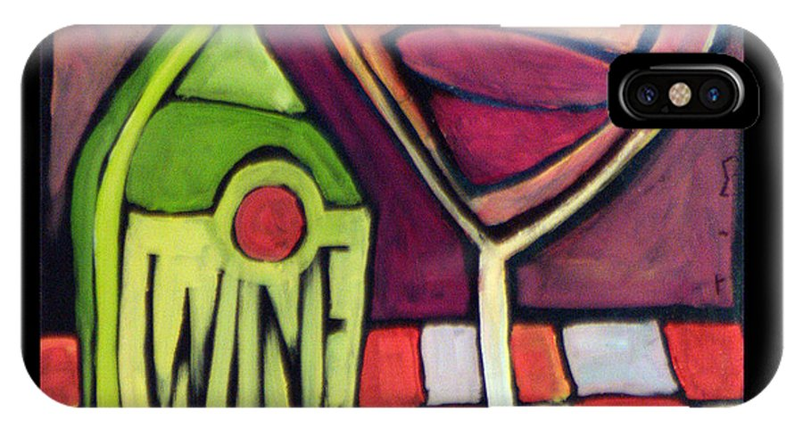 Wine IPhone Case featuring the painting Wine Squared by Tim Nyberg