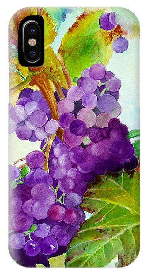 Wine IPhone Case featuring the painting Wine Vine by Karen Fleschler