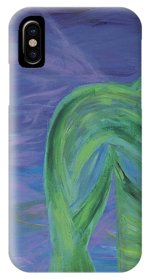 Angel IPhone X Case featuring the painting Winged Thing by Lola Connelly