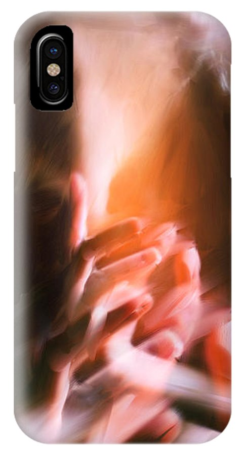 Hands IPhone X Case featuring the painting Wings by H James Hoff
