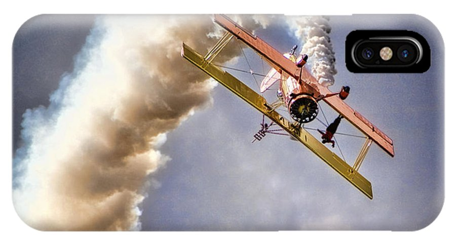 Aircraft IPhone X Case featuring the photograph Wingwalker by Diana Powell