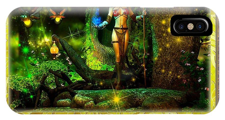 Fireflies IPhone X / XS Case featuring the digital art Winkin Blinkin And Nod by Austin Torney