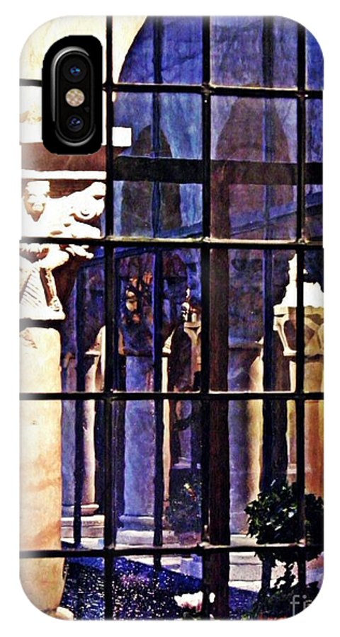 Cloister IPhone X Case featuring the photograph Winter Afternoon At The Cloisters 4 by Sarah Loft