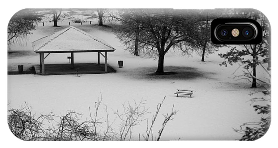 Shelter IPhone X Case featuring the photograph Winter At The Park by Idaho Scenic Images Linda Lantzy