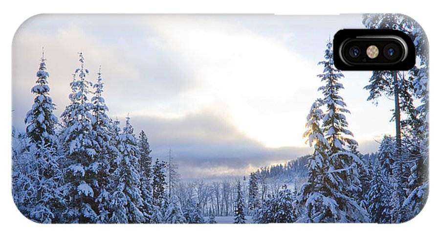 Winter IPhone X Case featuring the photograph Winter Atmosphere by Idaho Scenic Images Linda Lantzy