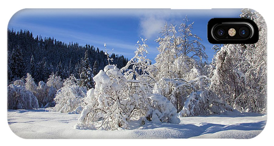 Snow IPhone X Case featuring the photograph Winter Blanket by Mike Dawson