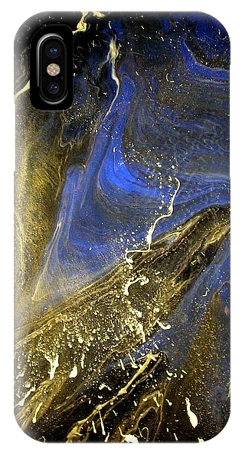 Winter IPhone X Case featuring the painting Winter Blue by Patrick Mock