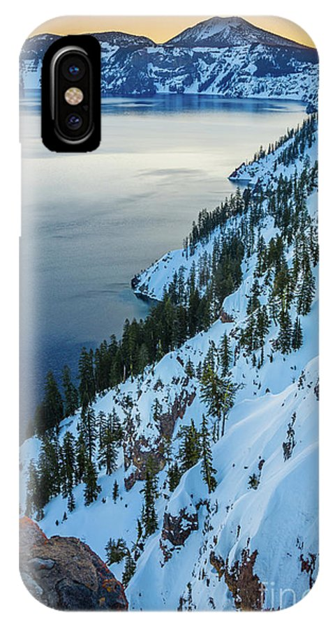 America IPhone X Case featuring the photograph Winter Caldera by Inge Johnsson