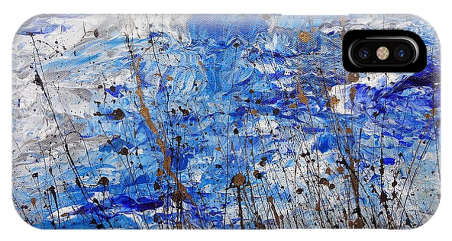 Winter Crisp IPhone X Case featuring the painting Winter Crisp by Jacqueline Athmann