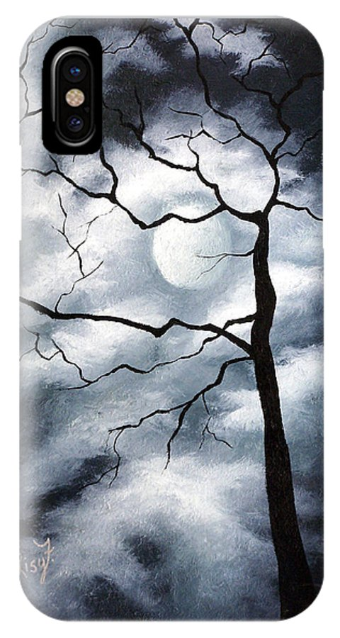 Winter IPhone Case featuring the painting Winter Evening by Elizabeth Lisy Figueroa